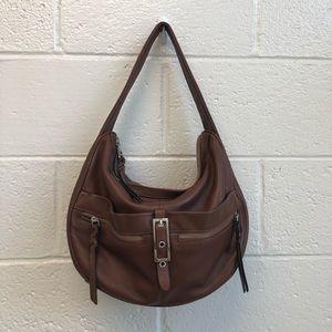 B Makowsky Cognac Leather Hobo
